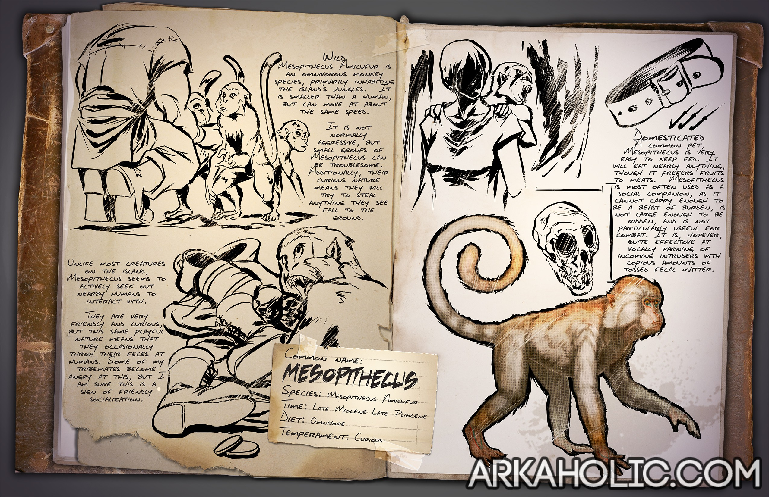 Mesopithecus monkey dino dossier guide ark survival 1433807077dossiermesopithecus malvernweather Image collections