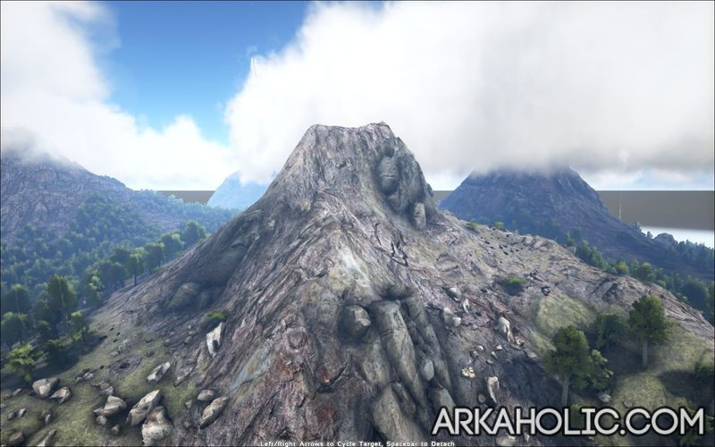 Ark Map The Island Mountain Crystal