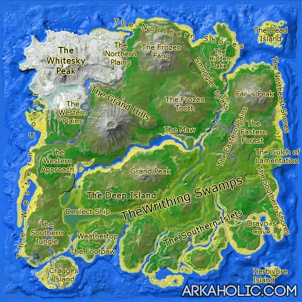 Ark Best Base Areas The Island
