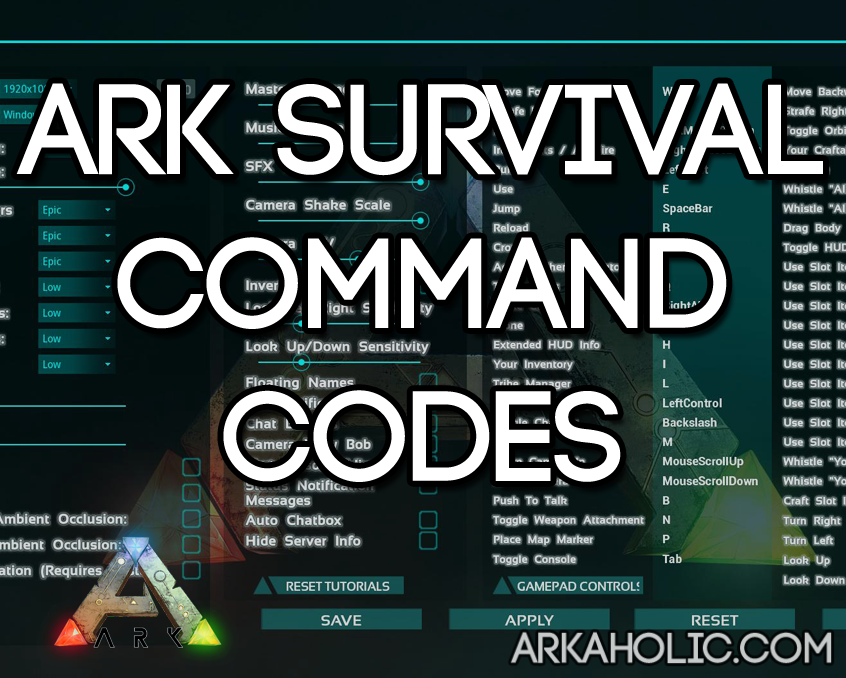 admin commands ark ps4
