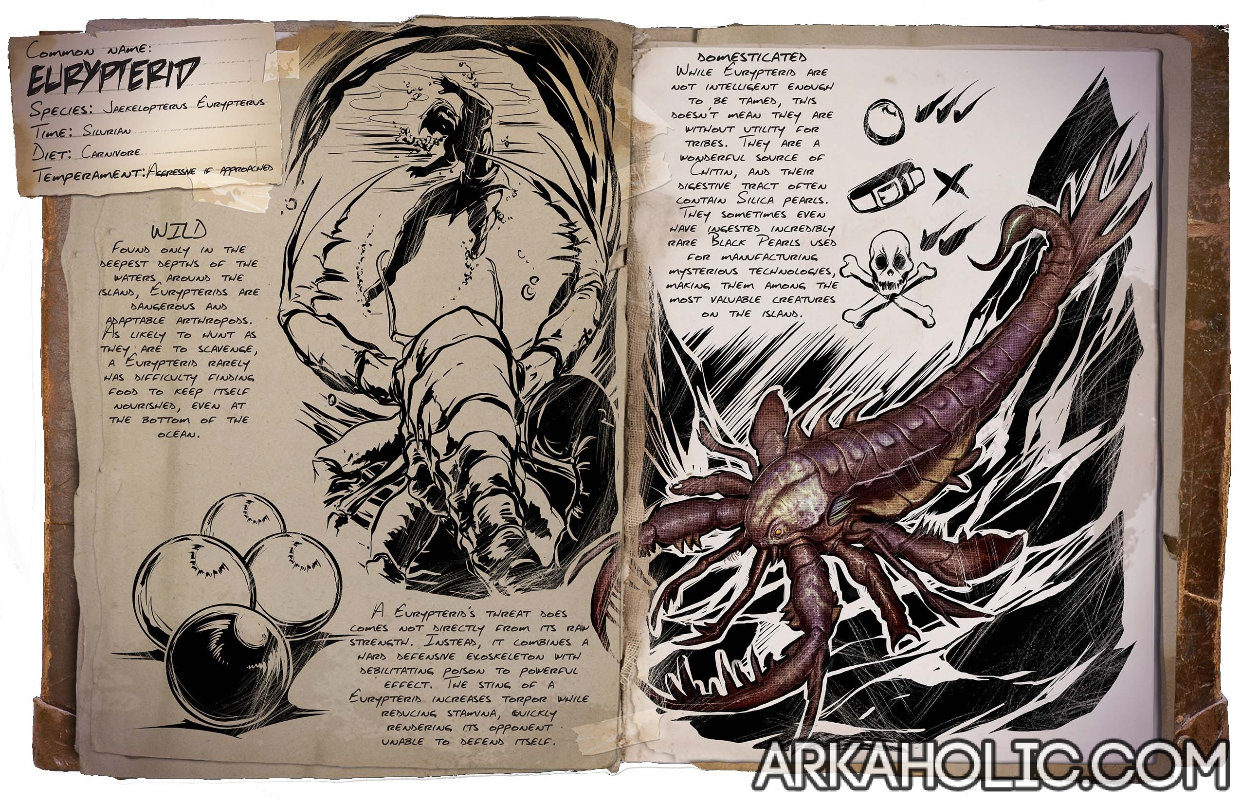 Eurypterid Dino Dossier Guide All content on this website (the site) is the property of arkcommands.com. arkaholic
