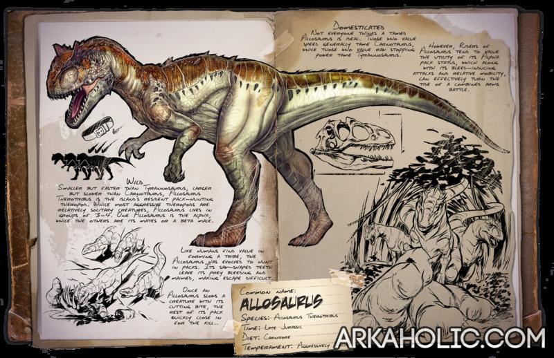 Allosaurus Dino Dossier & Guide - ARK Survival Evolved