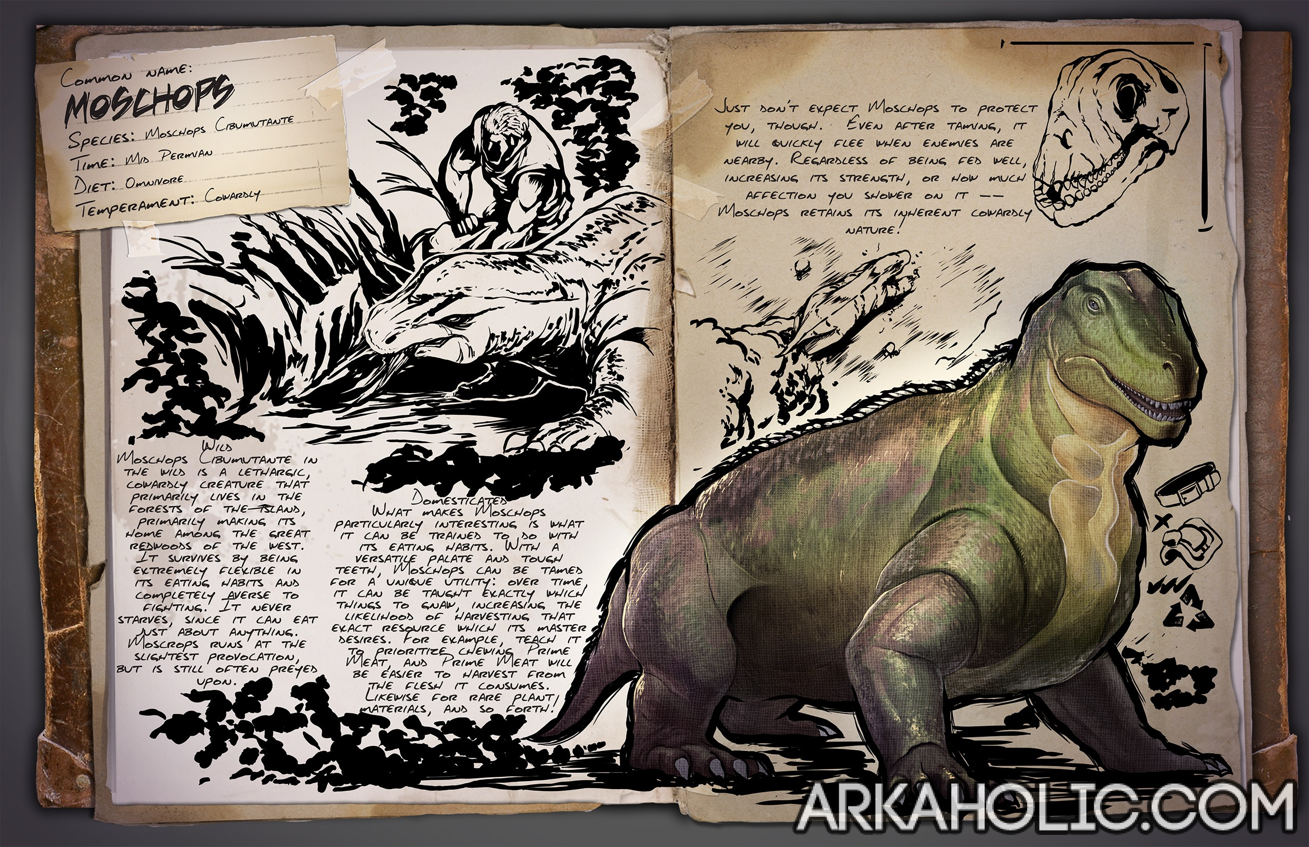 Moschops Tips & Taming Guide - ARK Survival Evolved