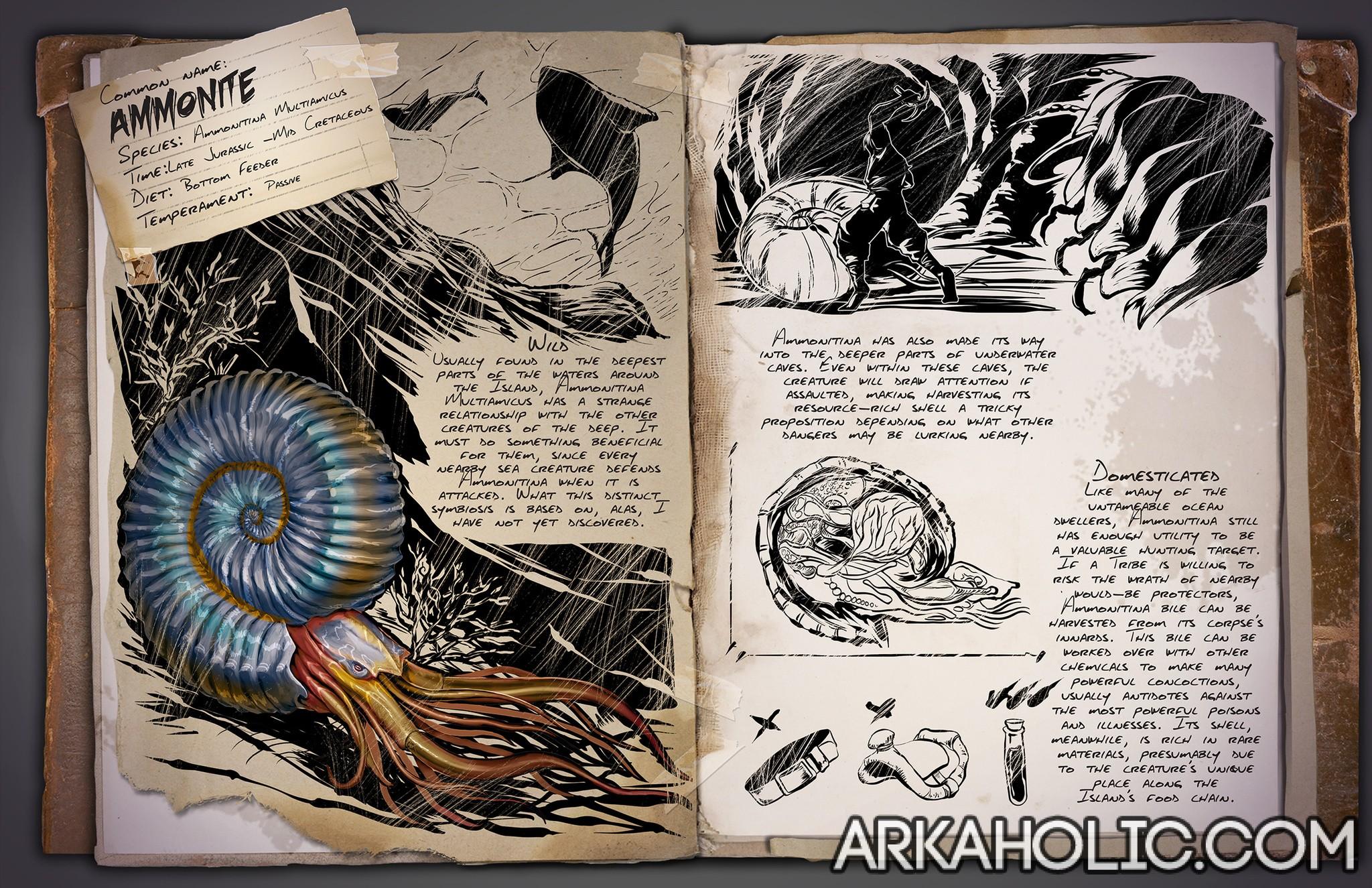 Ammonite Dossier Tips Guide Ark Survival Evolved On the switch survival guide for ark: arkaholic